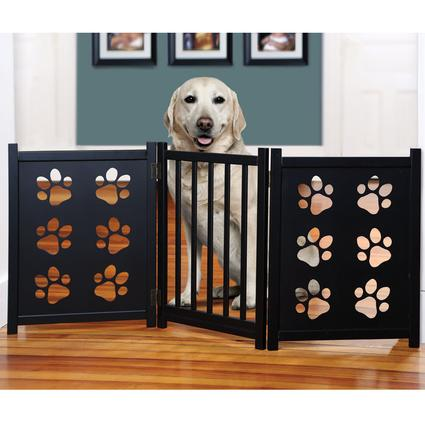 Wooden Tri-Fold Pet Gate