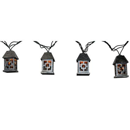 Silver Lantern Lights, 7.8', 10 Bulbs