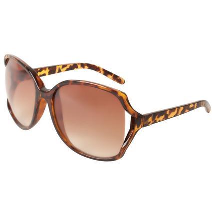Ladies' Tortoiseshell Sunglasses - Brown, Square Rimmed