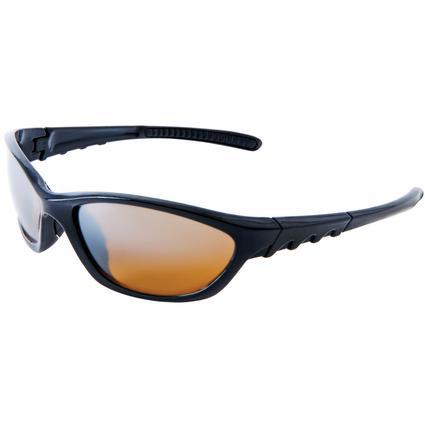 Men's Sunglasses - Black Frame, Amber Lenses