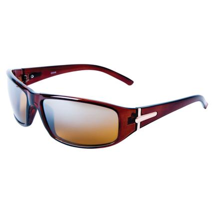 Men's Driving Sunglasses - Tobacco Colored Frame with Gold Color Accents
