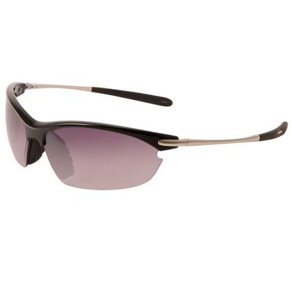 Men's Contour Sunglasses - Silver Finish Metal Frame, Smoke Lenses