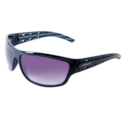 Men's Black Plastic Sunglasses - Magenta Lenses