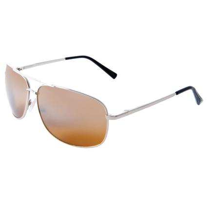 Men's Aviator Style Driving Sunglasses - Silver Finish, Amber Lenses