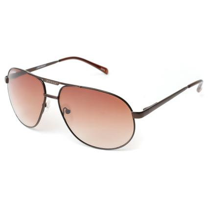 Men's Polarized Aviator Sunglasses - Gold Finish Frame, Amber Lenses