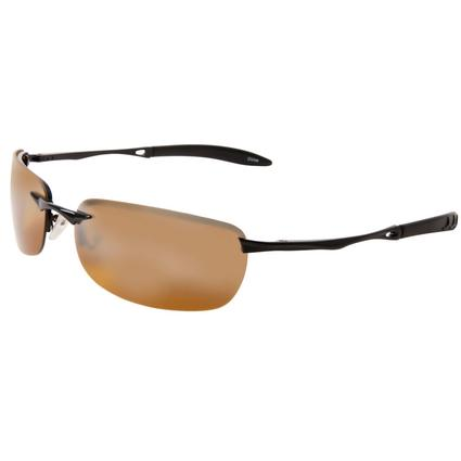 Men's Polarized Sunglasses - Rimless, Amber Lenses