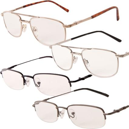 Men's Metal Reader Sunglasses - +2.00