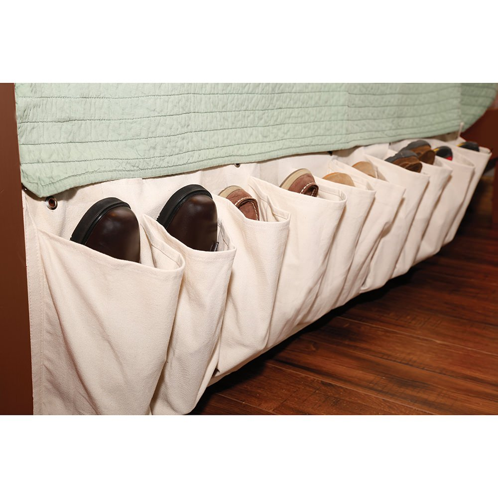 Canvas Shoe Pockets Direcsource Ltd 24506 Racks Hooks