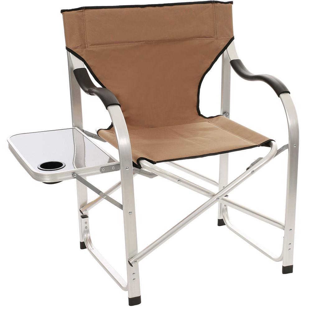 Aluminum Extra Large Directoru0027s Chair, Tan   Direcsource Ltd 69104 1    Folding Chairs   Camping World