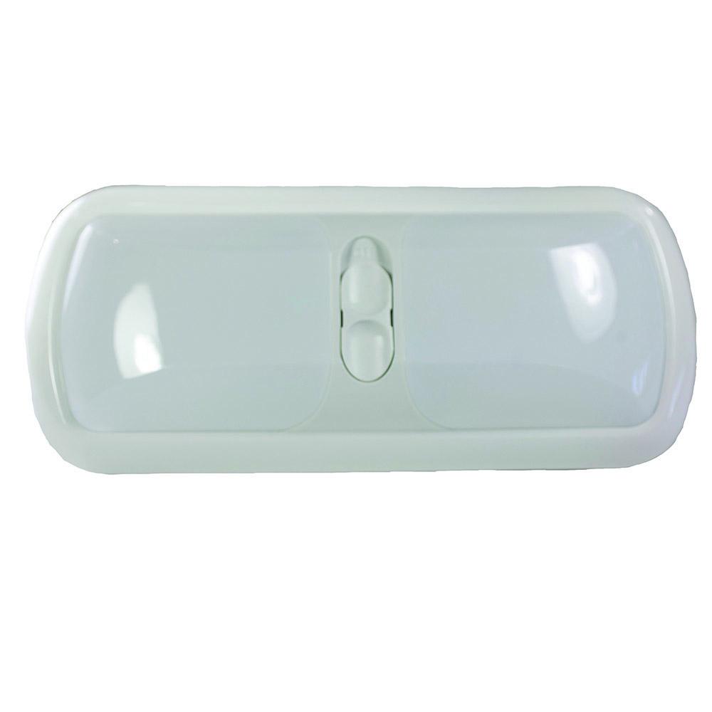 12 Volt Dome Light Fixture: Double 12-volt Dome Light, White