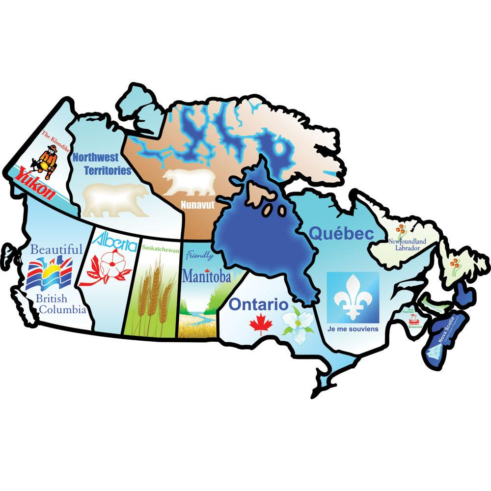 Canadian Provinces Sticker Brothers Stickers Camping World - Us state sticker map