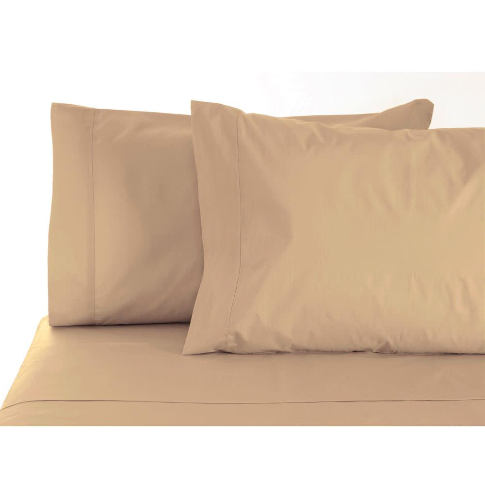 Short Queen Sheets - Pebble - Shavel Home SAT300QSPEBB - Sheets