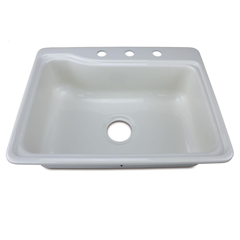 25 x 19 single bowl galley sink parchment lippert for The galley sink price