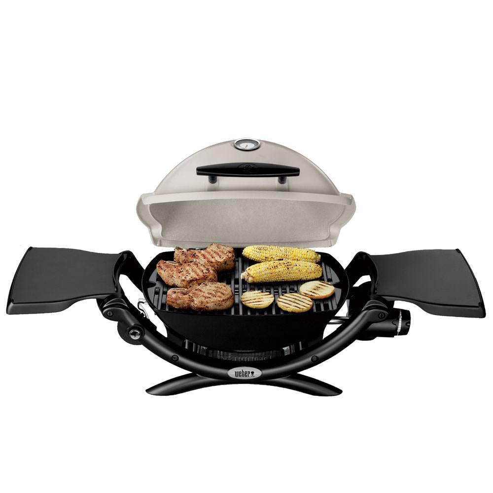 weber q 1200 portable propane grill weber 51060001 gas grills camping world. Black Bedroom Furniture Sets. Home Design Ideas