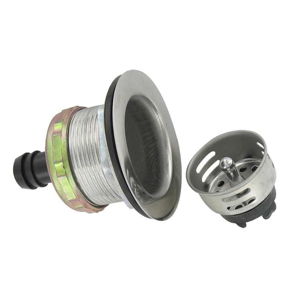 Stainless Steel Sink Drain Basket - Valterra A01-2011VP - Sink ...
