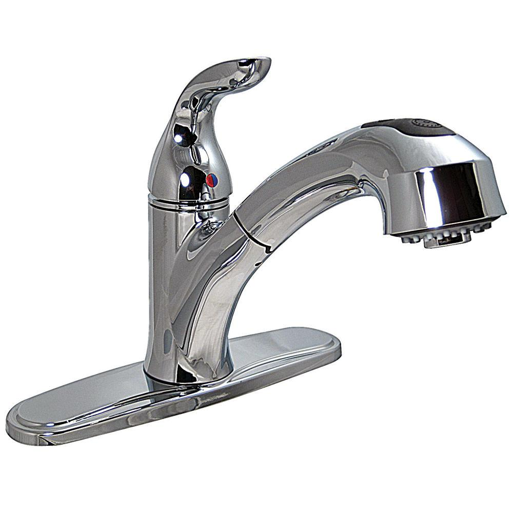Types of outdoor faucets - 8 Pull Out Kitchen Faucet Chrome