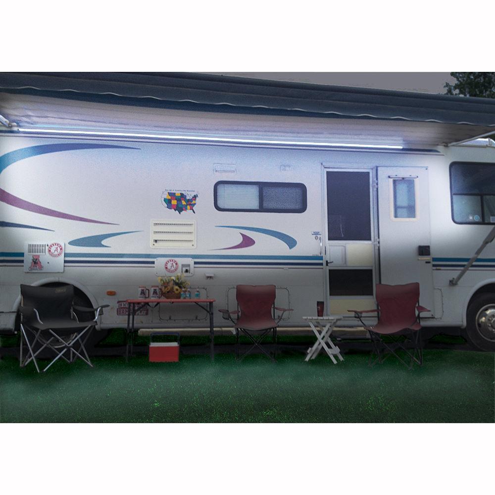 Black 12v Led Awning Strip Light Exterior Camping Rv: Bright White LED Light Strip Kit