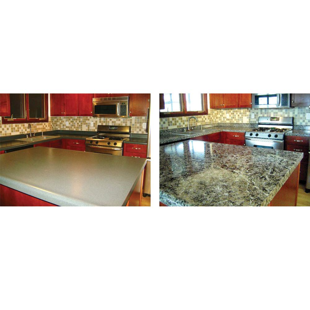 Granite Countertop Paint Kit, White Diamond - Giani Inc FG-GI WHT DI ...