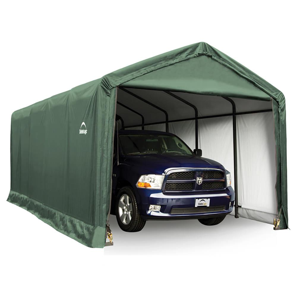 Cover It Instant Garages : Sheltertube storage shelter green cover