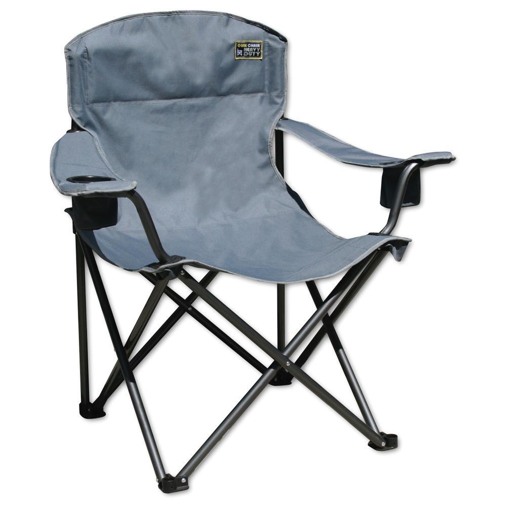 quik heavy duty folding armchair grey bravo sports