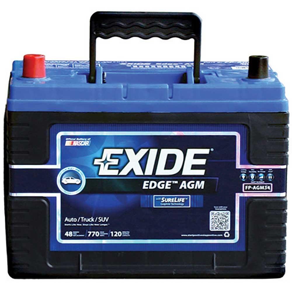 AGM Sealed Battery - Group Size 34 - Exide FP-AGM34DS - Batteries ...