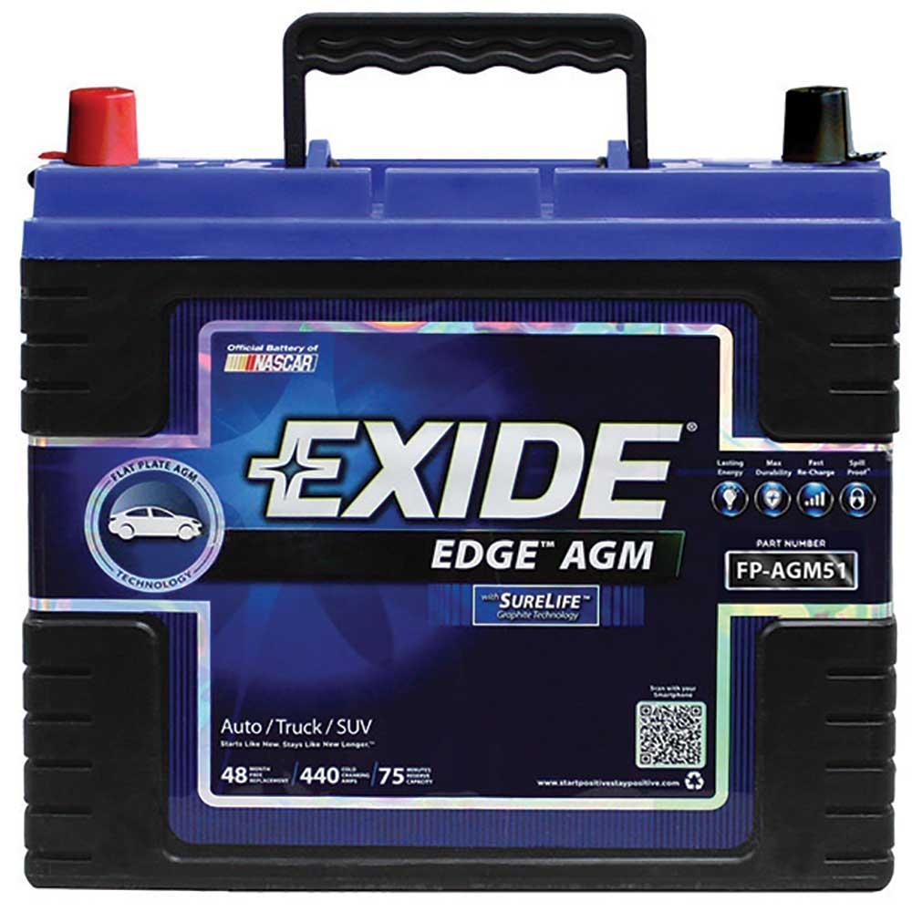 exide agm battery group 51 automotive exide fp agm51ds batteries camping world. Black Bedroom Furniture Sets. Home Design Ideas