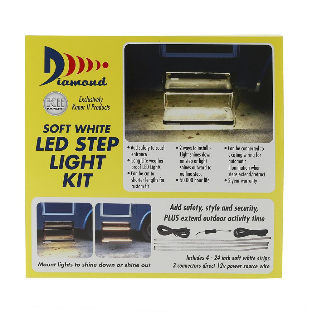 warm white led strip light kit for rv steps diamond 52695 patio
