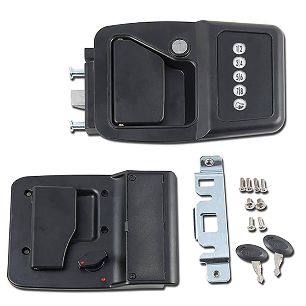 Model Did You Know That Factory RV Door Locks Are All Keyed Alike? What Does That Mean Exactly? It Means Theres A Universal Key For All Those RV Door Locks! RV Manufacturers Installed All The Same Locks In The Storage Bin Compartments And
