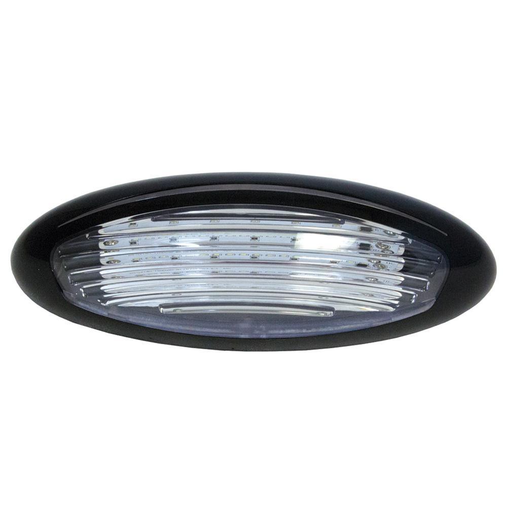 Black led exterior porch light surface mount itc 69767 - Exterior surface mounted light fixtures ...