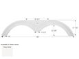 King of the Road Tandem Axle Fender Skirt FS1952 - Polar White