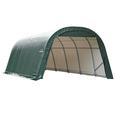Round Style Shelter 12 x 20 x 8 Green Cover