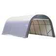 Round Style Shelter 12 x 24 x 8 Gray Cover