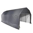 Barn Shelter 12 x 28 x 9 Gray Cover