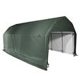 Barn Shelter 12 x 28 x 9 Green Cover