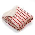 Micromink Sherpa Throw, Stars and Stripes