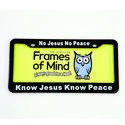License Plate - No Jesus No Peace
