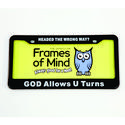 License Plate - God Allows U Turns