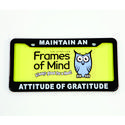 License Plate - Maintain an Attitude of Grattitude