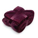 Baroque Quilted Berber Throw - Plum