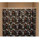 Camp Icon Shower Curtain, Black