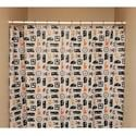 Camp Icon Shower Curtain, Gray