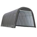 Round Style Shelter 13 x 24 x 10 Gray Cover