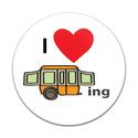 Magnetic GoBadge, I Luv Camping