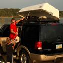 Boat and Rooftop Cargo Box, White