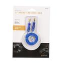 Blue Micro Flat Auxiliary Cord, 3'