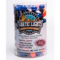 Mini Globe Orange and Dark Blue AC Powered LED Light Strand