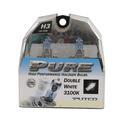 Double White Halogen Head Light Bulb, H3 - 2 pack