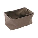 Shallow Storage Tote, Small - Cocoa