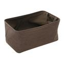 Shallow Storage Tote, Medium - Cocoa
