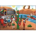 Christmas Cards - Santa Kayak